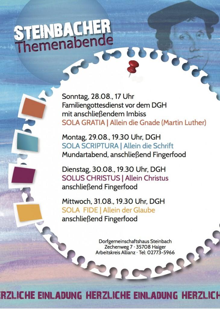 2016 Steinbacher Themenabende