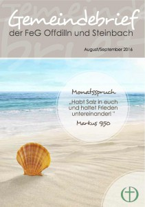 Titel Gemeindebrief August und September 2016